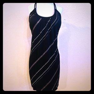 NWOT Victoria's Secret black rhinestone dress